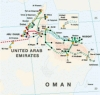 Map of Oman's main power grid