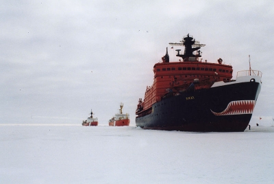 Ice breakers, led by the Yamal - Russia is eager to make the most of global warming.