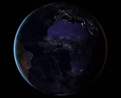 Night sky over the African continent