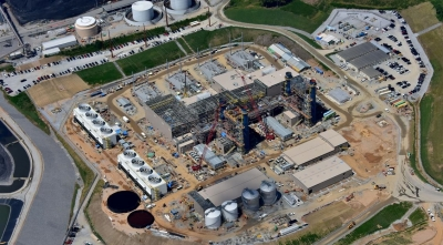 Aerial view of Duke's new Asheville CCGT in Aden