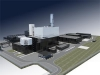 Render of the CCGT with district heat extraction in Berlin Marzahn