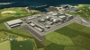 Render of Wylfa Newydd nuclear power plant in Anglesey, Wales