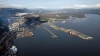 Waterfront at LNG Canada project in Kitimat