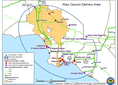 Aliso Canyon delivery area